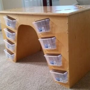 Lego Table And Ikea Boxes For Managing Your Lego Playtime