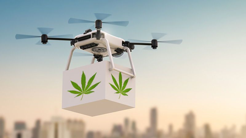 Weed Delivery Service By Drone